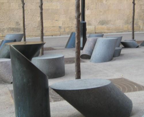 modern sculpture native rock
